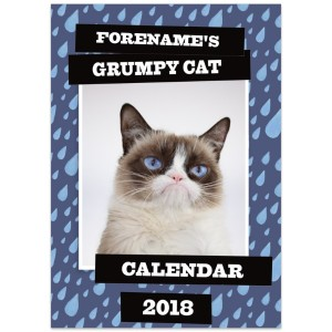 Grumpy Cat - Fully Personalised 2018 Calendar